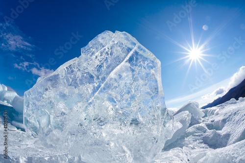 Foto op Canvas Gletsjers Winter Baikal