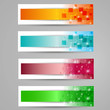 modern glossy banner vector set, different sets and colours
