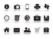 Icons Set for Web Applications, media icons, multimedia - Vector
