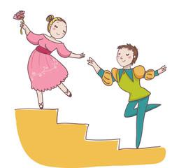 coppia di ballerini di danza classica