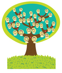 albero genealogico cartoon