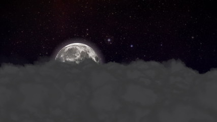 Night Sky and Moon - HD1080