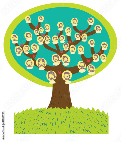albero genealogico cartoon