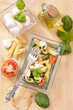 Pasta mit Caprese Salat