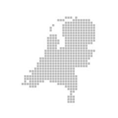 Pixelkarte - Niederlande