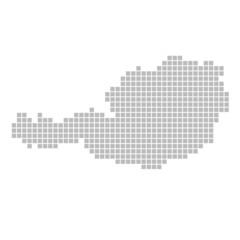 Pixelkarte - Österreich