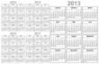 Calendar 2013, 2014, 2015, 2016, 2017
