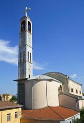 Catholic church in the center of Shkodra, Albania