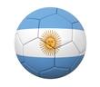 3D soccer ball Argentina