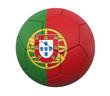 3D soccer ball portugal