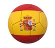 3D soccer ball spain