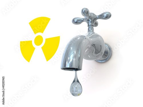 radioactive leak 3d render illustration