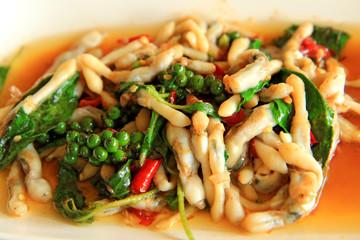 Spicy Stir Fried Clams
