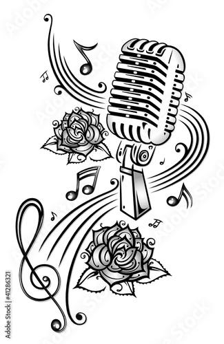 Musik, Musiknoten, Noten, Notenschlüssel, micro - 41286321