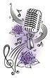 Musik, Musiknoten, Notenschlüssel, micro, violett