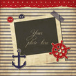 Nautical vintage card, scrapbook template