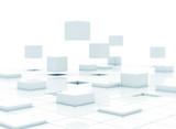 Fototapety 3d cubes - building a business