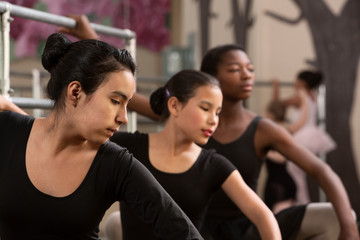 Ballet Students Warm Up