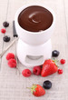 chocolate fondue and fruits