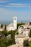 Panoramic view of the church in Assisi