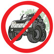 Cartoon Off-road prohibition sign.