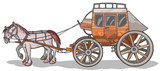 Western Stagecoach with Horses. poster