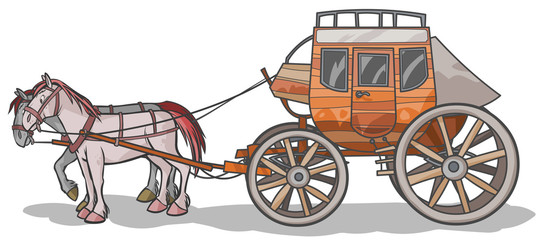 Western Stagecoach with Horses.
