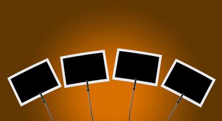 Fotoclip 4x vor orange Hintergrund 1