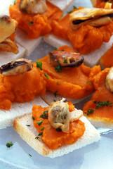 Crema di carote e cozze Cream of carrot and mussel 胡萝卜和贻贝