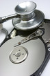 Fonendoscopio, disco duro, reparar, virus informático