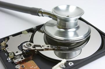 Fonendoscopio, disco duro, reparar