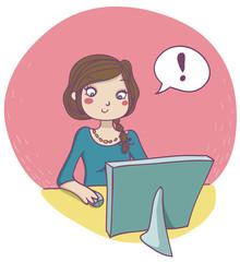donna davanti al computer