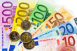 Ein Fächer mit Euro-Geldscheinen