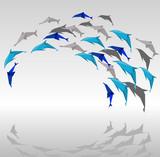 Fototapete Origami - Abstrakt - Meeressäuger