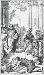 Ephesians burn the book after the preaching of the Apostle Paul