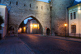 Fototapety Old city wall at night