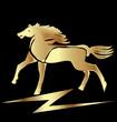 Gold horse vector stock