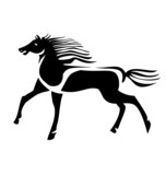 Black horse silhouette vector stock