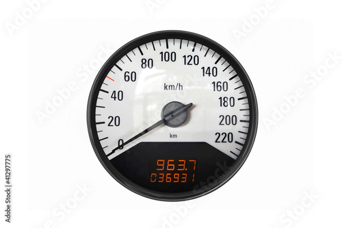 Black sport speedometer