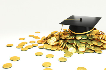 Mortar Board on GOld Coin