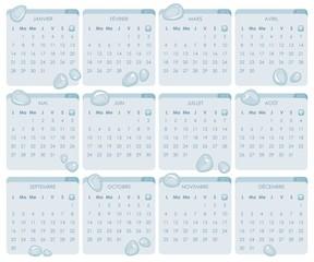 Aqua Calendar 2013