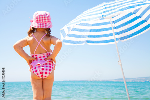 little girl on sea beach