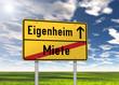 """Ortsschild """"Eigenheim / Miete"""""""