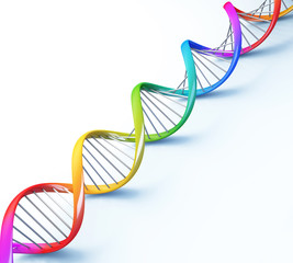 Dna helix strand  genetic cells colors medical research