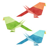 Origami Bird   Zebra Parakeet    made from Recycle Paper