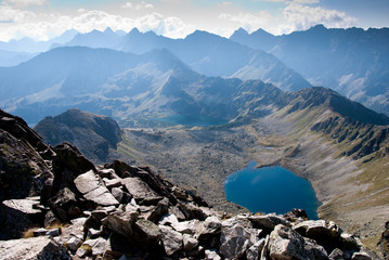 Five lakes valley in Tatra Mountain