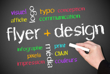 flyer + design - concept de couleur