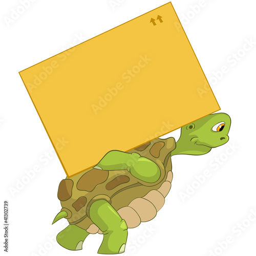 Funny Turtle. Delivery.