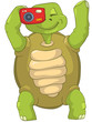 Funny Turtle. Tourist - Photographer.