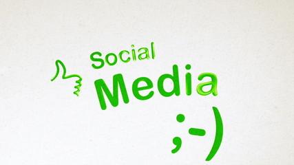 Social Media Diagram Animation on White